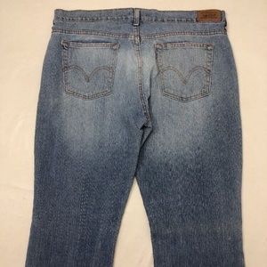 Levis 515 Jeans Boot Cut 14 M Light Blue Red Tab